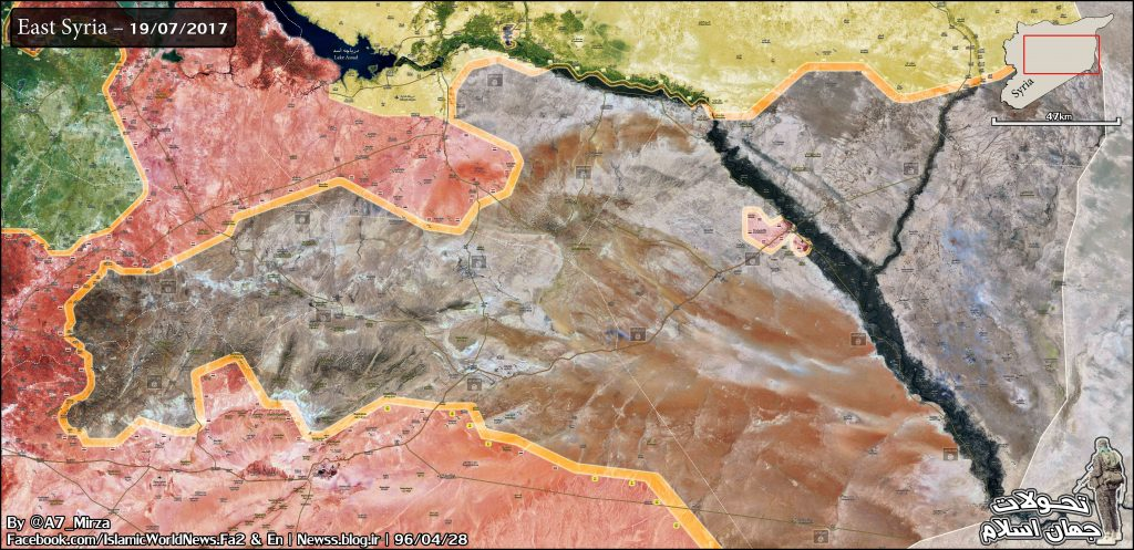 Map Update: Military Situation In Syria And Possible Directions Of Government Advance On Deir Ezzor