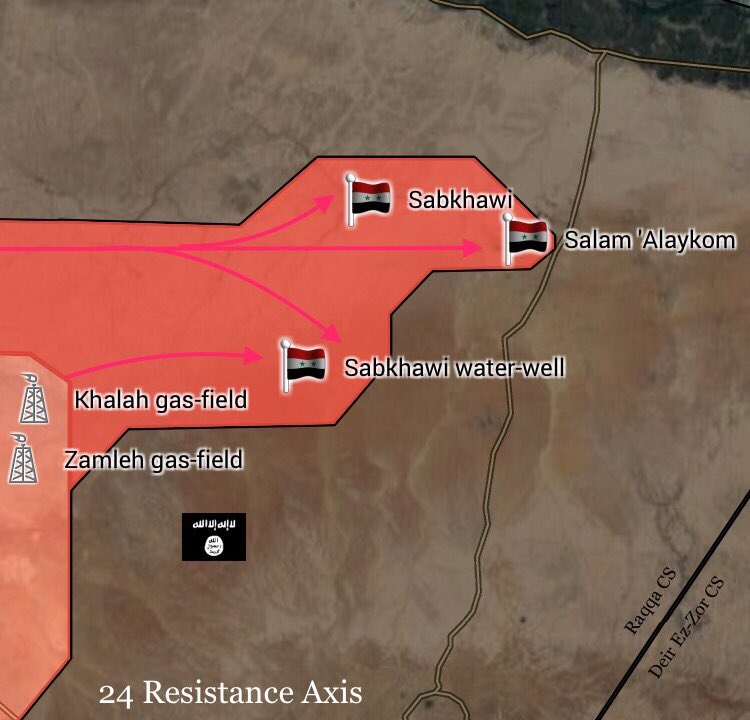 Government Forces Get Fire Control Over Ghanim Ali-Bishri Triangle In Southern Raqqah Countryside