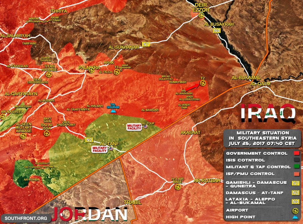 Russian MoD: Syrian Army Liberated T2 Pumping Station, Deployed In 26km From Al-Bukamal (Map Update)