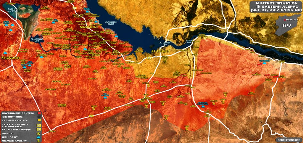 Map Update: Military Situation In Southern Raqqah And Eastern Aleppo After Recent Tiger Forces Advances