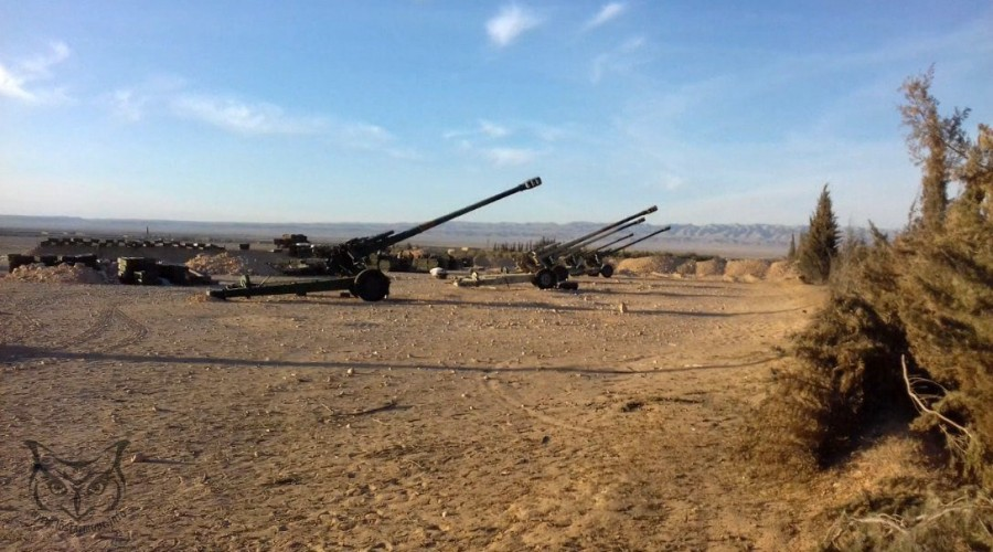 Photos: Russian Artillery Units At Frontline With ISIS Terrorists In Syria