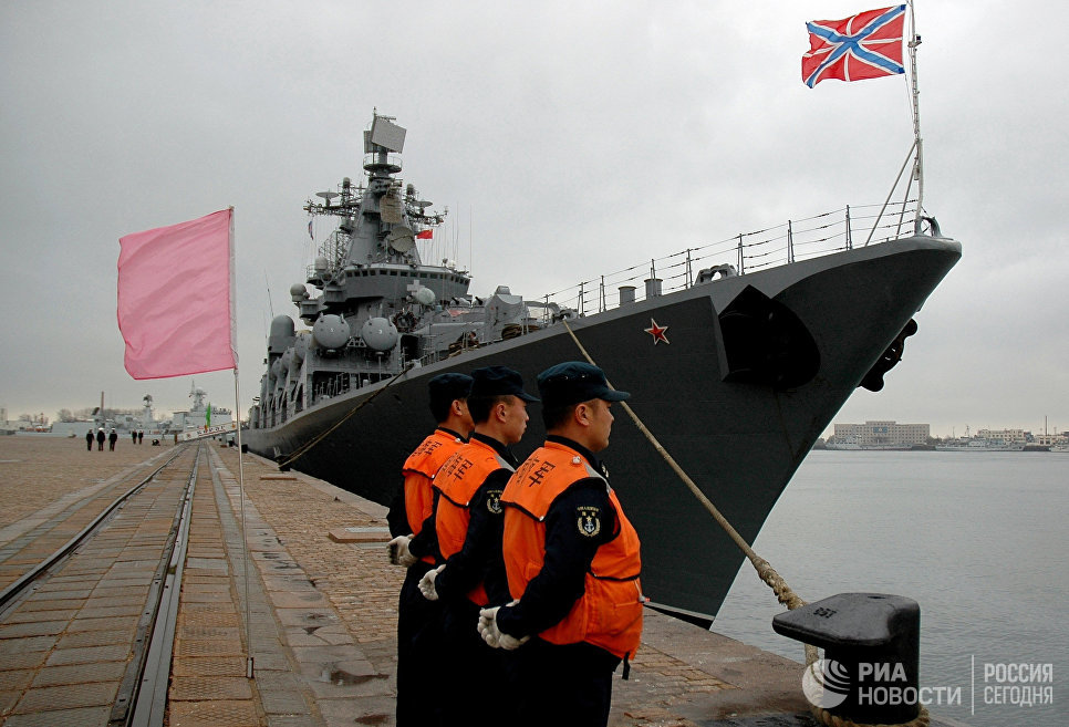 Russian Northern Fleet's Naval Group Holds Drills Near Syria
