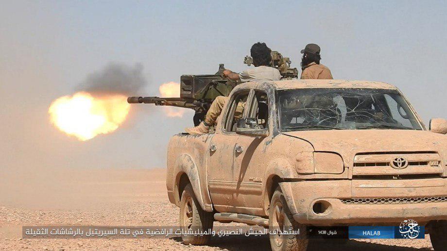 Syrian Army Storming ISIS Pocket East Of Khanasir