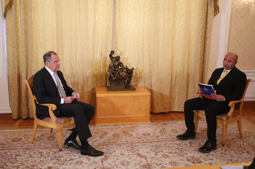 Foreign Minister Sergey Lavrov's interview with Kurdish television channel Rudaw