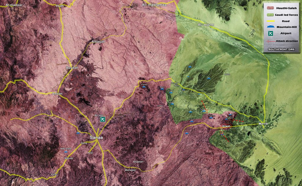 Pro-Saudi Forces Continue Attempts To Impose Siege On Yemeni Capital Of Sanaa (Map Update)