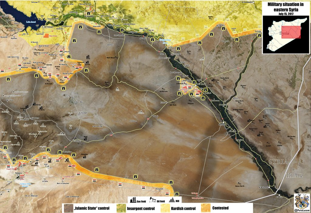 Map Update: Syrian Army Progress Along Road Between Resafa And Sukhna