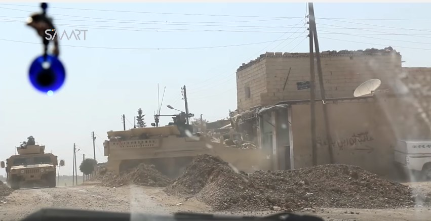 US Stryker Fighting Vehicles, Humvees Filmed In Raqqa, Confirming Direct Involvement Of US Troops In Clashes With ISIS