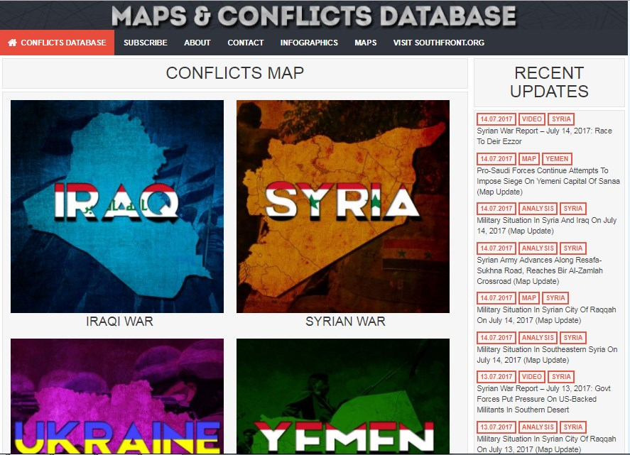 SouthFront Releases Comprehensive Update Of Maps & Conflicts Database (UPDATED)