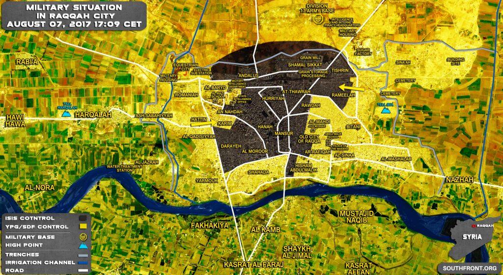 SDF Advances In Rameelah District In Raqqah City, Makes Notable Gains (Map)
