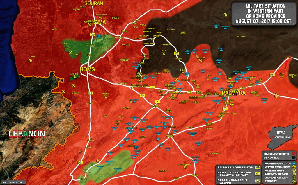 Military Situation In Wesetern Part Of Homs Province On August 7, 2017 (Map Update)