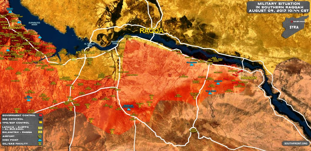Government Forces Encircling ISIS-held Town Of Maadan In Southern Raqqah (Map Update)