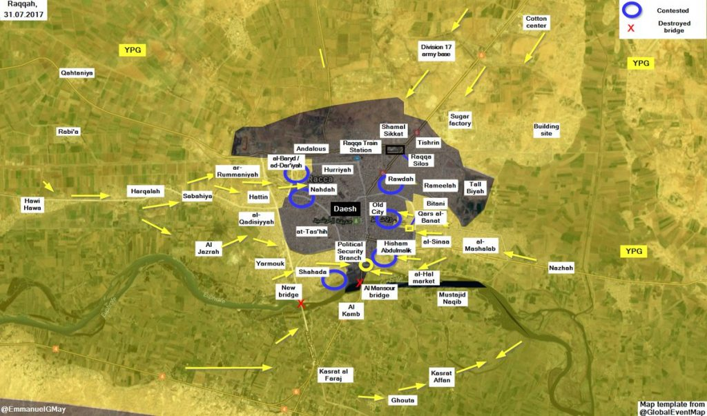 SDF Captures Nazlah Shahadah District, Attempts To Isolate Old Raqqah From Southern Direction