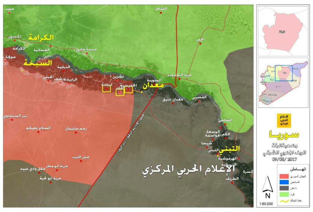 Syrian Army Increases Pressure On ISIS South Of Ithriya And East Of Salamiyah