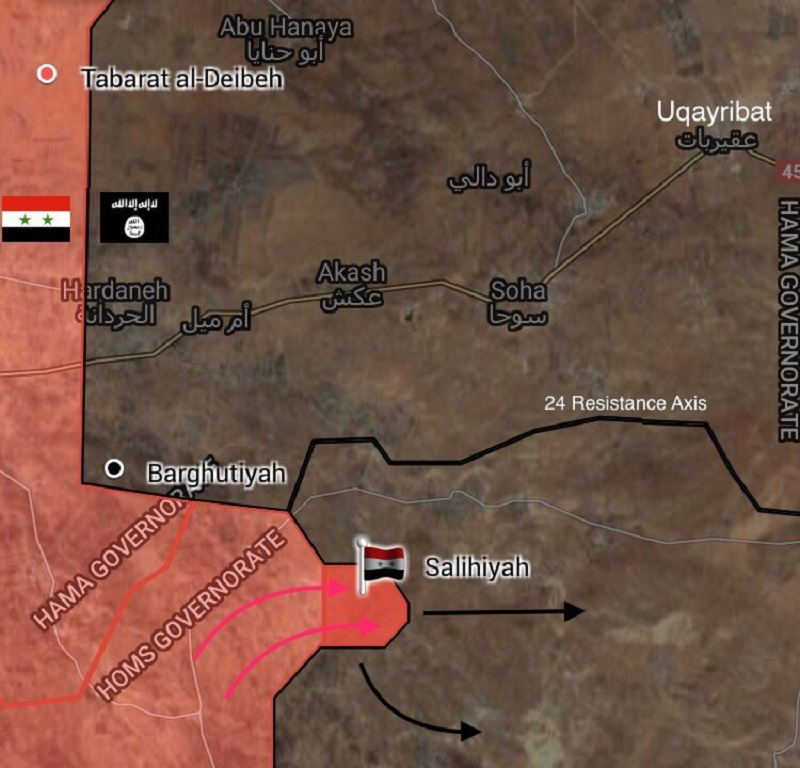 Syrian Army Liberates Salihiyah Village, Pushes To ISIS Strong Point Of Uqayribat (Map)