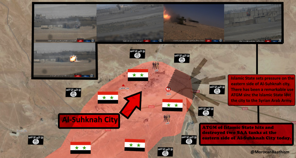 ISIS Counter-Attacks Against Syrian Army East Of Sukhna, Destroys 2 Battle Tanks