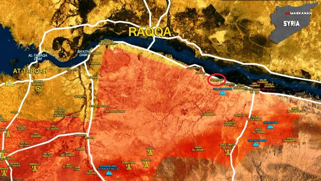 Government Forces Overrun ISIS Defense, Liberate Sabkah Village In Southern Raqqah (Map)