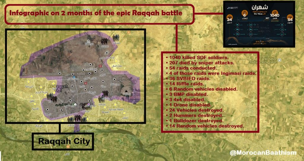 ISIS Claims 1040 SDF Members Killed In Raqqa Battle