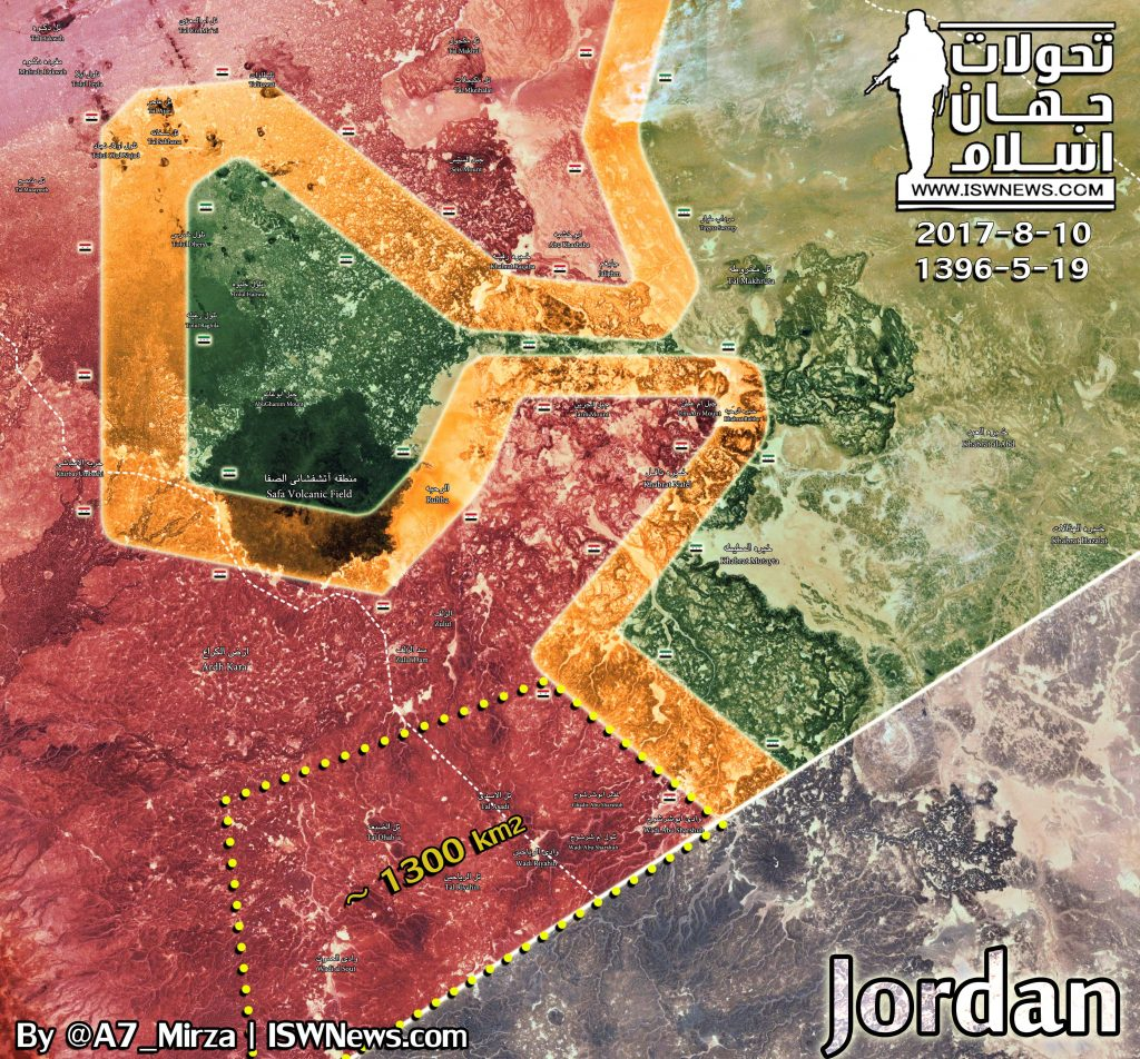 Map Update: Military Situation In Southeastern Syria After Government Advance At Border With Jordan