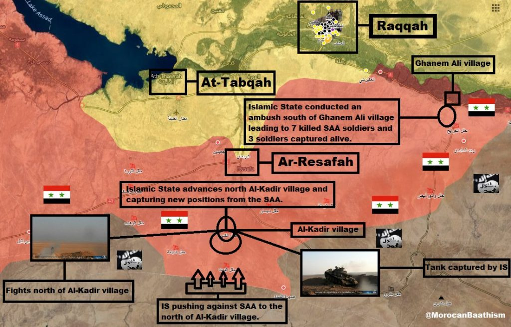 ISIS Intensifies Raids Against Syrian Army In Tabqah Countryside
