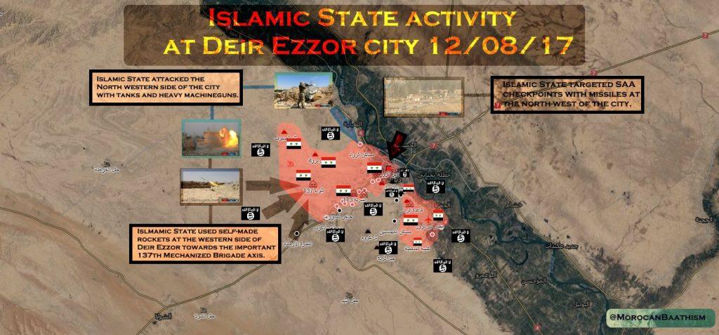 ISISは、デリゾール市では共和国防衛隊を圧力しようとしませアースを獲得しません