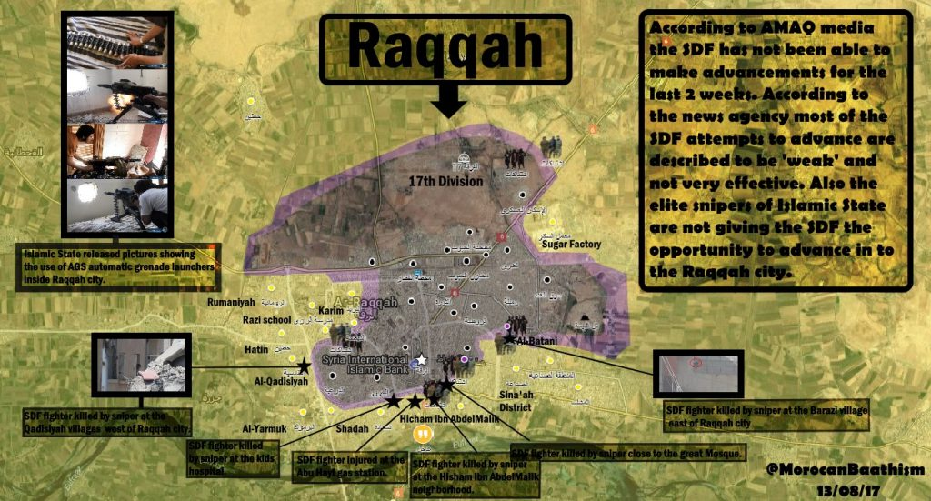 ISIS Activity In Raqqah City - Map Update
