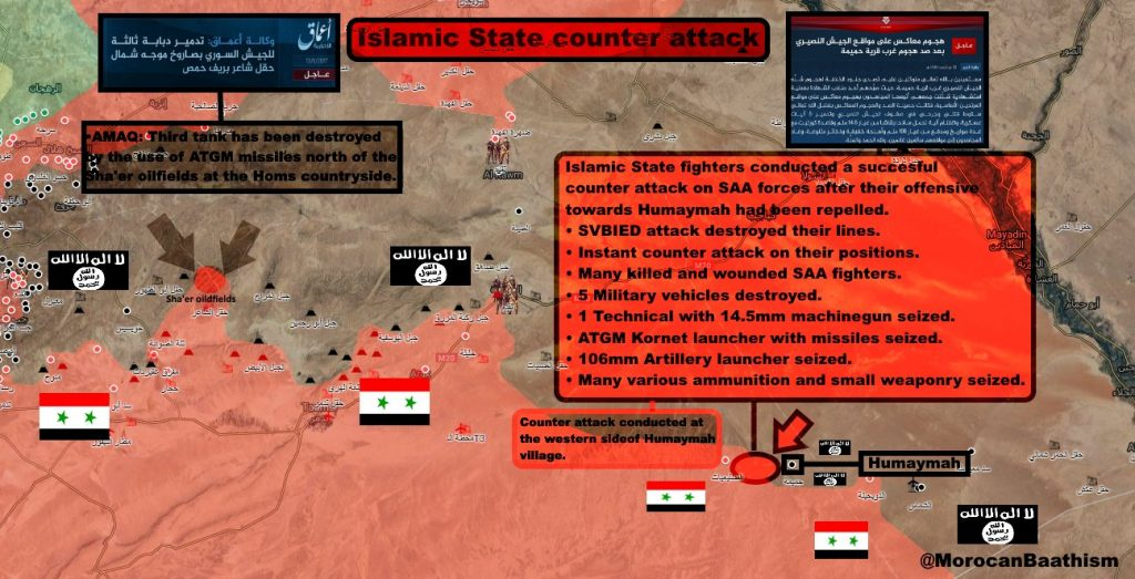 Map Update: ISIS Counter-Attacks Near Humaimah, Intense Fighting Ongoing