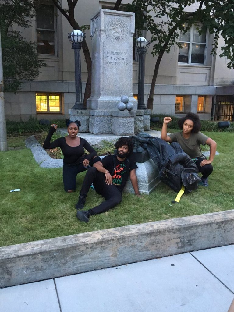 Crowd Topples Confederate Statue In North Carolina As Tensions Grow Across United States (Photos, Video)