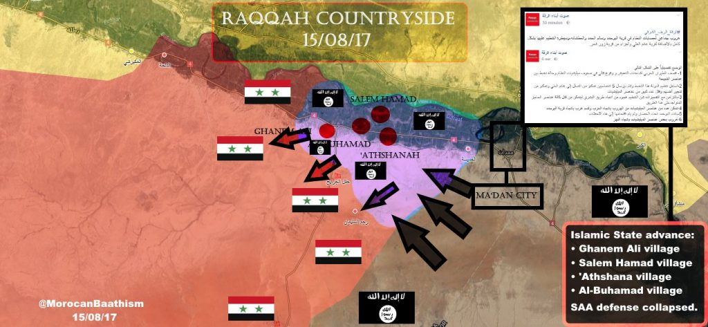 ISIS Launches Large Counter-Attack West Of Maadan, Overruns Syrian Army Defense - Reports