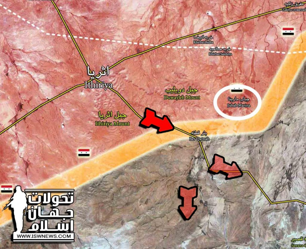 Maps: Syrian Army Activity In Area South Of Ithriyah