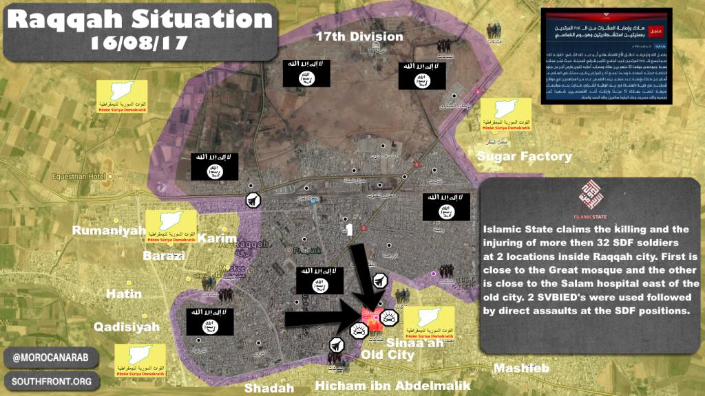ISIS Claims Killing Of 32 SDF Members In Raqqah City