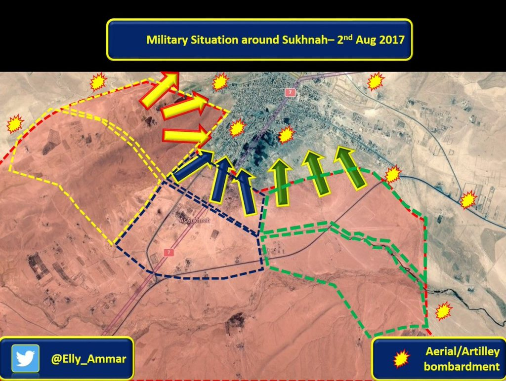 Syrian Army Seizes ISIS Fortifications Near Sukhna, Starts Entering Strategic Town (Maps)