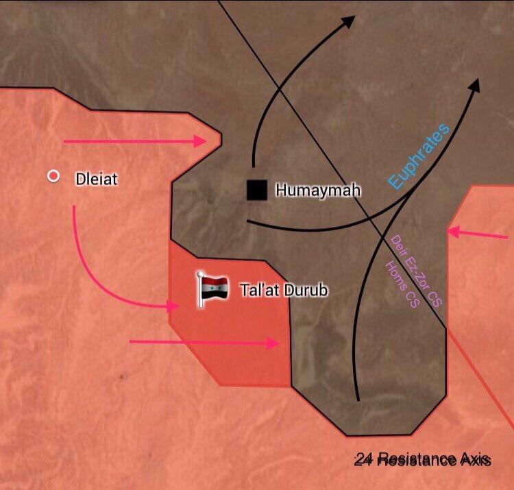 Government Forces Encircling ISIS-held Humaymah Village Near Iraqi Border