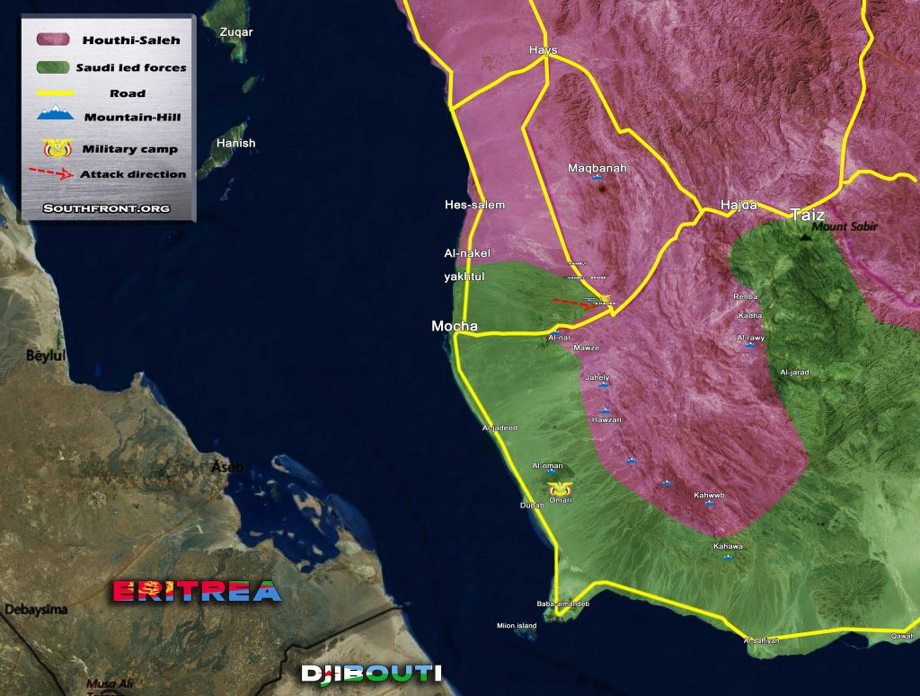 Yemen Map Update: Pro-Saudi Forces Continue Attempts To Seize Khaled Military Camp From Houthis