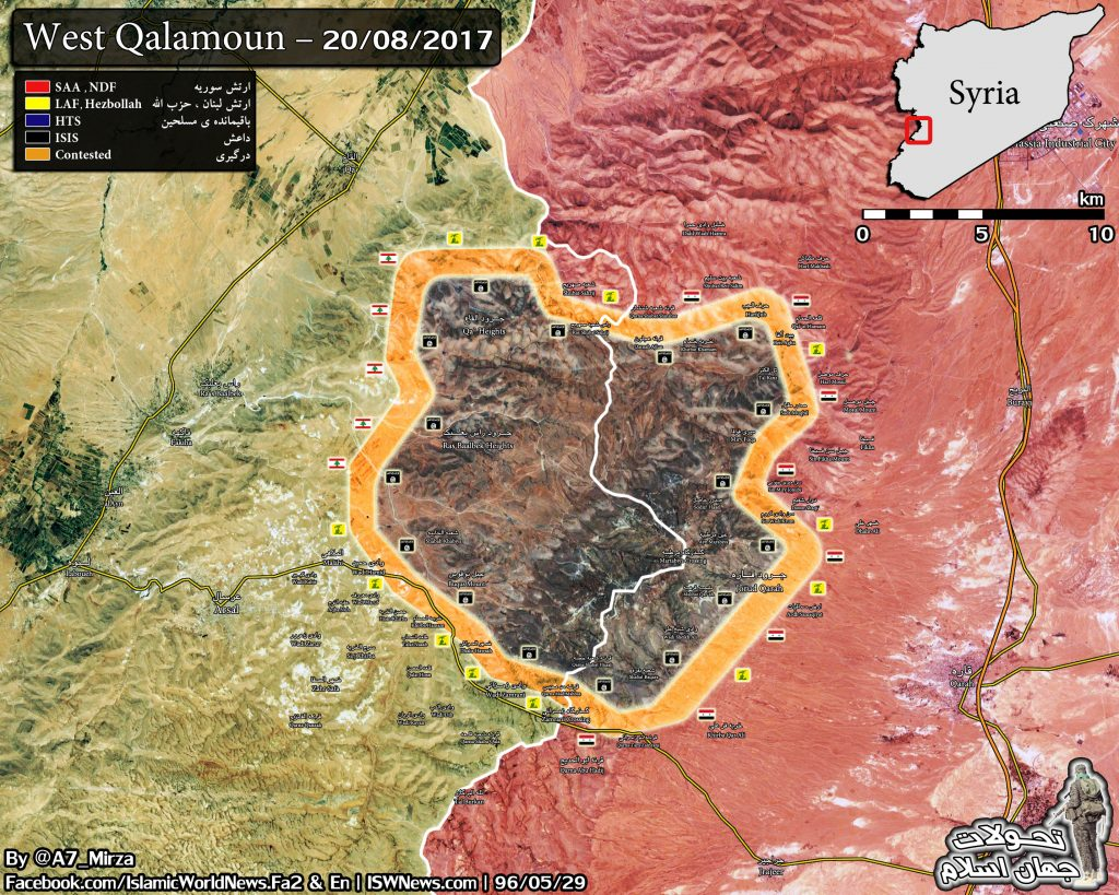 Map Update: Military Situation In Western Qalamoun Area At Syrian-Lebanese Border