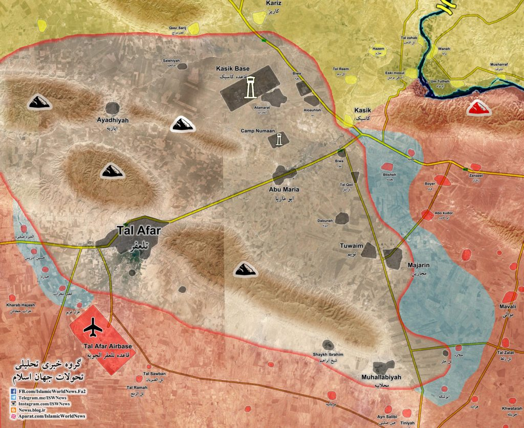 Military Situation In Tal Afar Area In Northern Iraq (Map Update)