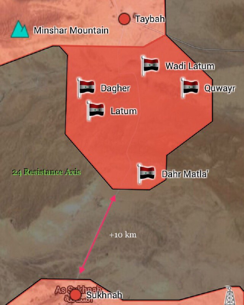 Government Forces Liberate 11 More Villages From ISIS In Central Syria (Maps)