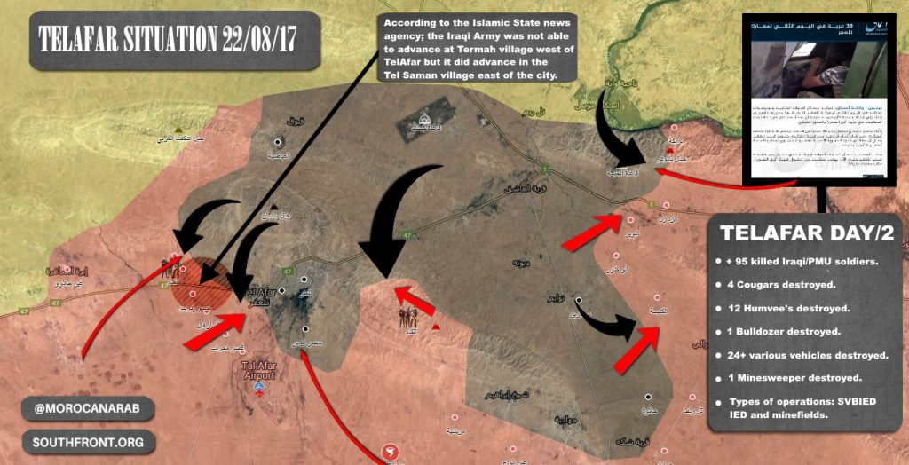 ISIS Released Info About Alleged Casualties Of Iraqi Forces In Second Day Of Tal Afar Operation