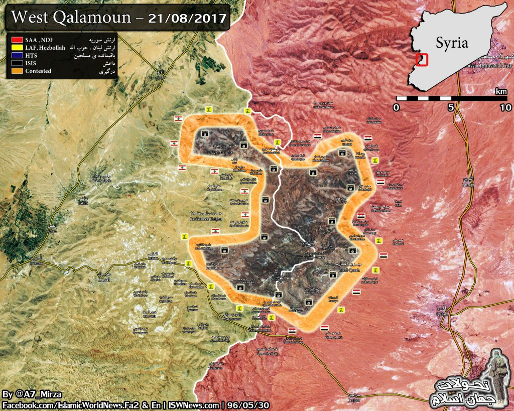 ISIS Retreats From 6 More Villages At Syrian-Lebanese Border (Map)