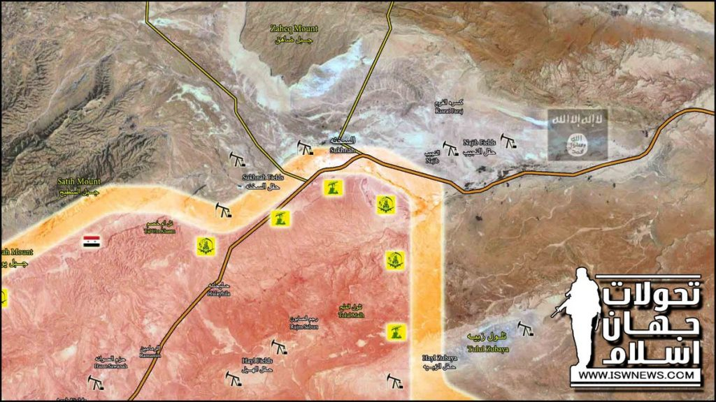 Government Forces Storming Sukhna Town And Gas Field (Map)