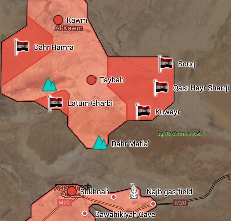 Syrian Army Captured More Points North Of Sukhna And East Of Taybah (Map Update)