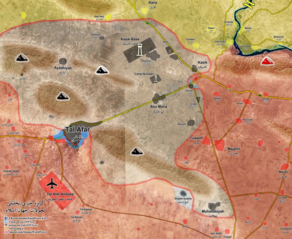 Map Update: Military Situation In Tal Afar In Northern Iraq