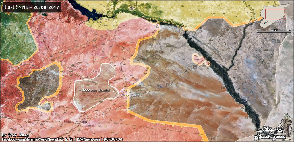 Military Situation In Central Syria Following Syrian Army Success Against ISIS North Of Palmyra (Map Update)