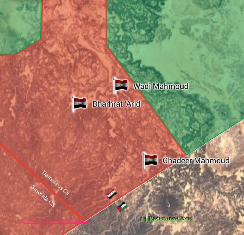 Map Update: Syrian Government Forces Progress At Border With Jordan