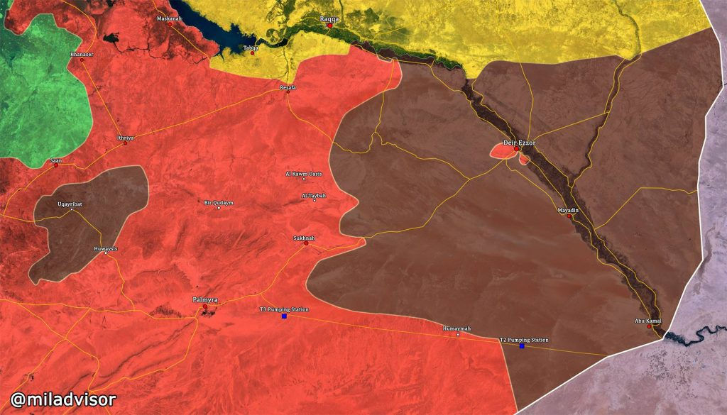 Syrian Army Advances Towards Deir Ezzor, Deploys In 75 km From City