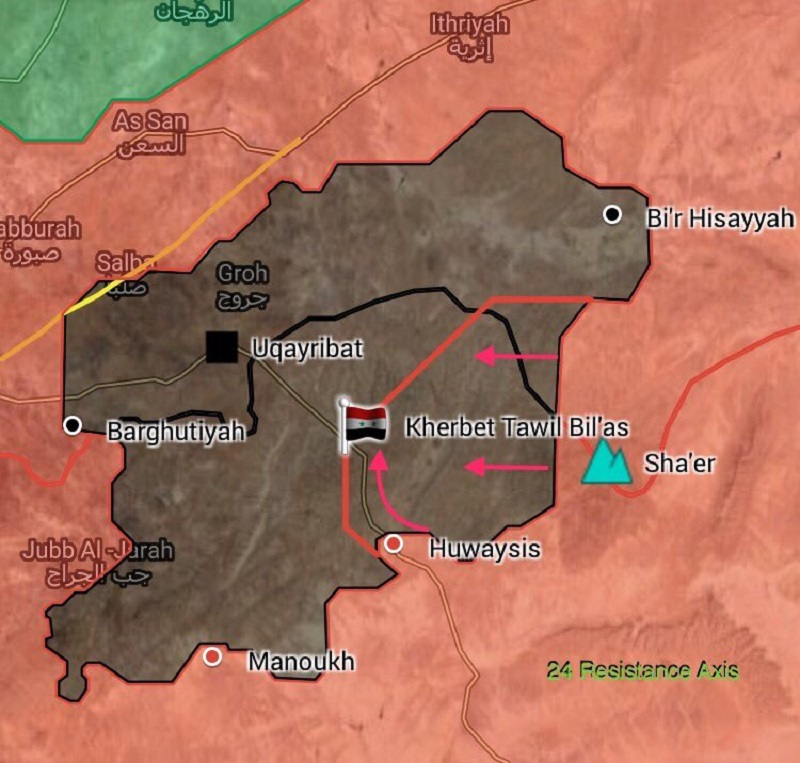 Syrian Government Forces Overrun ISIS Defense Northeast Of Uqayribat