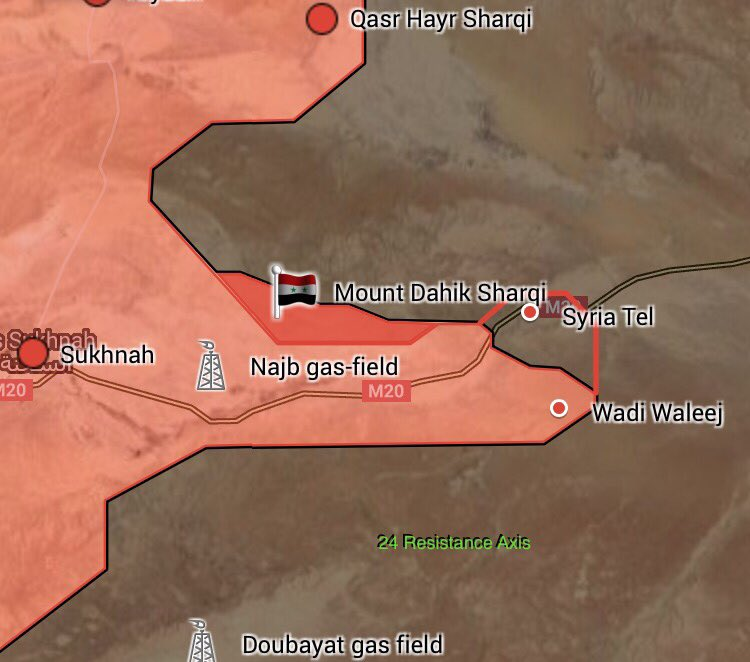 Syrian Army Captures Dahik Sharqi Mount Northeast Of Sukhna, Advances Along Road To Deir Ezzor
