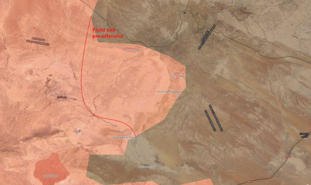 Government Forces Advance North Of Sukhna, Make Notable Progress Against ISIS