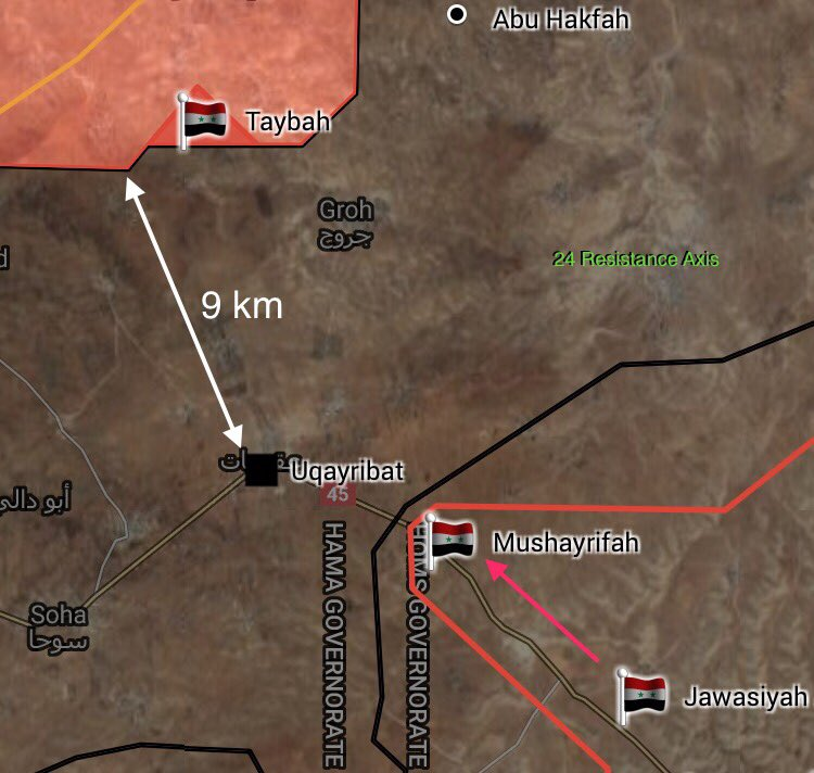 5th Assault Corps' ISIS Hunters Liberate Mushayrifah, Deploy In 2km From Uqayribat