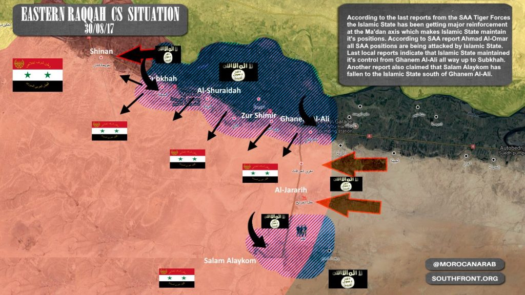 ISISは、シリア軍のタイガー軍からより多くのグランドを得るための試みで、南Raqqahに増援をデプロイ