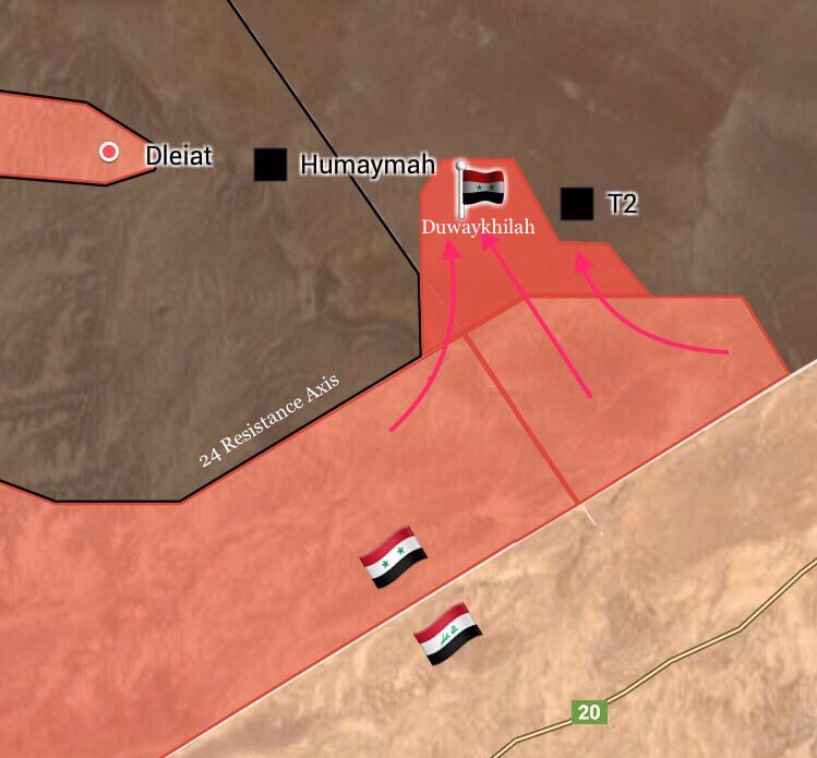 Syrian Army Liberates Duwaykhilah Village Near T2 Pumping Station